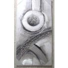 Wandbild Wanddeko Welle / Kreise modern ca. 40 x 80 cm V1