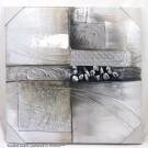 Wandbild Wanddeko modern quadratisch ca. 60 x 60 cm V1