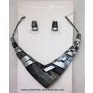 Schmuckset Collier mit Ohrringen Modeschmuck AF57849
