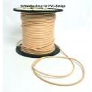 Schweißschnur 4 mmx5m PVC CR40 hell-apricot Meterware