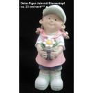 Deko-Figur Jule mit Blumentopf ca. 23 cm