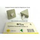 Endstück Pyramide für Stilgarnituren 16 mm 1 Paar