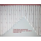 Fertigstores asymmetrisch transparent BxH 1,95 x 1,42 m