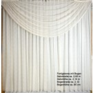 Fertiggardine mit Bogen BxH ca. 2,00 x 2,10 gecrasht