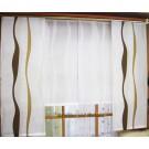 Fertig konfekt. Fensterdekoration, ca. 230 x 126 cm (B/H),Weiß/Beige/Braun