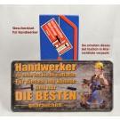Geschenk-Set Metallschild mit Werkzeug-Kasten