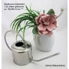 Gießkanne Edelstahl 1,3l silber glänzend ca. 18x36x13 cm