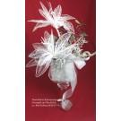 Winterliches Kunstarrangement Frostoptik im Glas-Kelch ca. 40x63x30cm (B/H/T)