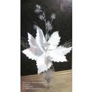 Winterliches Kunstarrangement Frostoptik im Glas-Kelch ca. 70x80x32cm (B/H/T)