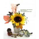 Herbstgesteck Sonnenblume im Keramiktopf ca. 30cm hoch