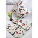 Kissenhülle Gobelin Kolibri creme/bunt 40x40 cm