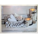 LED-Bild Welcome mit 2 LED`s ca. 40 x 30 cm