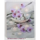 LED Bild Orchidee und Kerzen ca. 40x30 cm