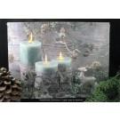 LED Bild Kerzen in weihnachtlicher Dekoration ca. 40x30 cm