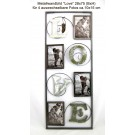 Metall-Wandbild Love für auswechselbare Fotos ca. 28x70 (BxH)