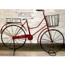 Deko-Fahrrad zum Bepflanzen Metall ca. 82 x 57 x 17 cm (LxHxB) schwarz rot
