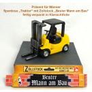 Geschenk für Männer Spardose Stapler mit Zollstock Bau