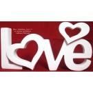 """Schriftzug """"Love"""" weiß 30x13x4 cm (BxHxT) Polyresin"""