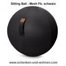 Sitzball 65 cm rund für Erwachsene Mesh Fb. schwarz