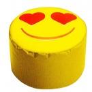 Sitzhocker - DotCom - SMILE/Herzaugen, Gelb ca. 50 x 30 cm