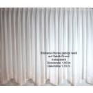 Stickereistores mit Bogen BxH 1,90 x 1,70 m weiß transparent