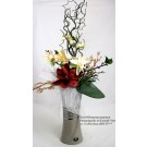 Kunst-Blumenarrangement Sternmagnolie in Keramik-Vase ca. 31x66x16cm (B/H/T)