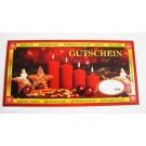 """XXL-Gutschein Geldgeschenk Umschlag """"Frohes Fest"""" rote Kerzen"""