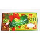 """XXL-Gutschein Geldgeschenk Umschlag """"Frohes Fest"""" Schokoladenmotiv"""
