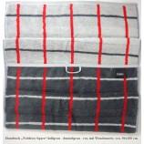 "Handtuch Cawö ""Noblesse Square"" hellgrau/dunkelgrau/rot, karriert ca.50x100cm"