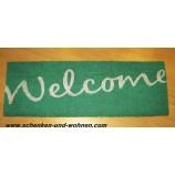 Schmutzfangmatte - Kokosmatte Welcome, 723 turquoise ca. 26 x 75 cm