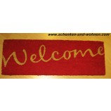 Schmutzfangmatte Kokosmatte Welcome 720 red ca. 26 x 75 cm