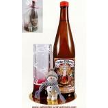 Weihnachtsgeschenk mit weißem Glühwein, Glas Wichtel