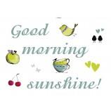 Good morning Dekosticker Wandtattoo 50x70 (BxH) 10teilig selbstklebend