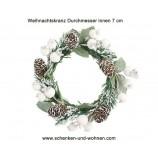 Künstlicher Dekorationskranz winterlich 12 cm