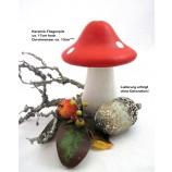 Keramik-Fliegenpilz weiß-rot ca.17 cm hoch