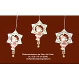 Weihnachtsanhänger 3er-Pack mit gold-lurex ca. 10,5x15 cm (BxH)