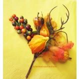 """Künstlicher Herbst-Deko-Pick """"Physalis"""" Herbstfarben ca. 16 cm"""