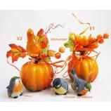 Herbst-Deko-Kürbis Orange, ca. 15 x 10 x  cm 2-fach sortiert