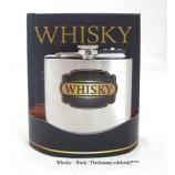 Geschenk-Set Whisky-Buch mit Flachmann edelstahl