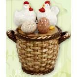 Keramikgefäß für Eier, Ostereier im nostalgischen Design