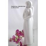 """Francis Paar """"Halt dich fest"""" - Skulptur, Creme ca. 13 x 17 x 23 cm"""
