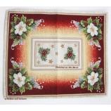 "Weihnachtsläufer ""Adventsrose rot/bunt Gobelin, ca. 38 x 48 cm"