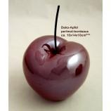 Keramik - Apfel  mit Stiel perlmutt bordeaux ca. 10x14x10 cm (B/H/T)
