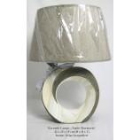 "Keramik Lampe ""Tondo Marmoria"" braun-beige kraqueliert ca.42x29x15 cm (HxBxT)"