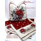 Kissenhülle Gobelin - Weihnachten- Weihnachtsgirlande ecru`/bunt, ca.45 x 45 cm