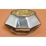 Glasgefäß - Vase Diamond gold-silberfarben ca. 18,0x10,0x14,0 cm B/H/T
