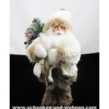 Weihnachsmann - Nikolaus weiß/braun ca. 38 cm