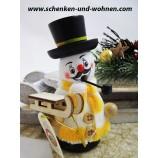 """Räuchermann """"Schneemann mit  Schlitten"""" ca. 12 cm"""