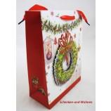 Papiertragetasche 3D Christmas Style, Adventskranz ca. 24 x 8 x 18 cm