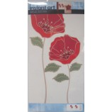 Wandaufkleber Meadow Red 4 Sticker Wandtattoo